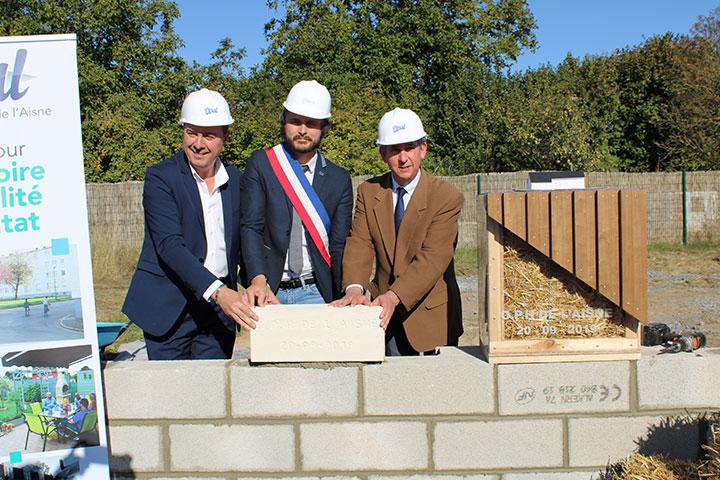 Un chantier comprenant 2 logements innovants lancé à Anizy-le-Grand