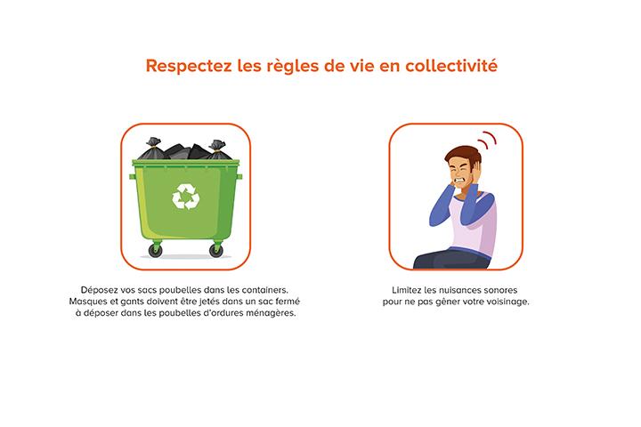 Respectez les régles de vie en collectivité