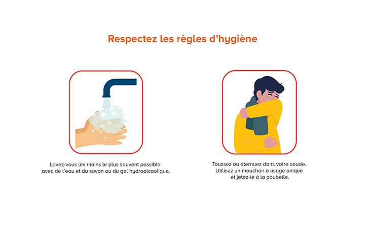 Respectez les règles d'hygiène