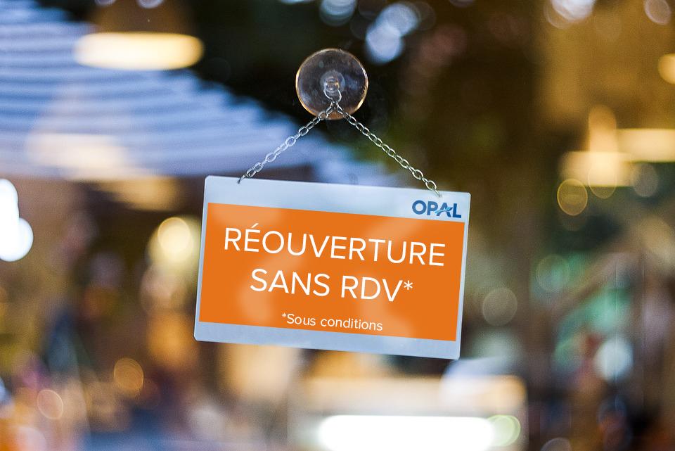 Amélioration du contexte sanitaire : une réouverture sans RDV sous certaines conditions