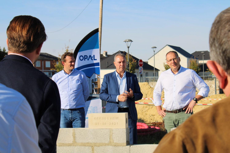 L'OPAL pose la 1ère pierre des 26 futurs logements à Villeneuve-sur-Aisne